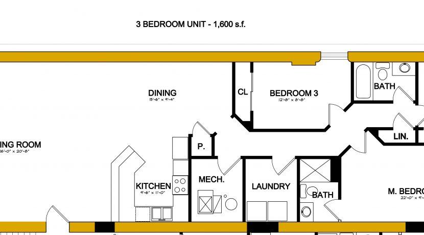 Apartment C floor plan
