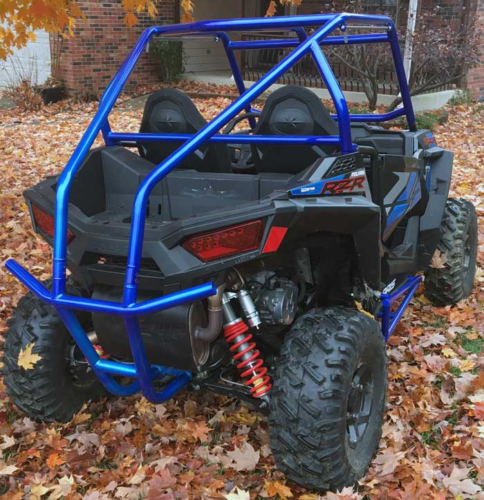 UTV Custom role cage powder coated Illusion blueberry. Powder coating Indianapolis, Moorseville, Brownsburg, Greenwood, Smith Valley, Franklin, Bargersville, Bloomington, Martinsville, Shelbyville, Lafayette, Lebanon, Plainfield, Avon, Clayton, Greenfield, Anderson, Pendleton, Fortville, McCordsville, Lawrence, Beech Grove, Noblesville, Carmel, Fishers and Whiteland Indiana