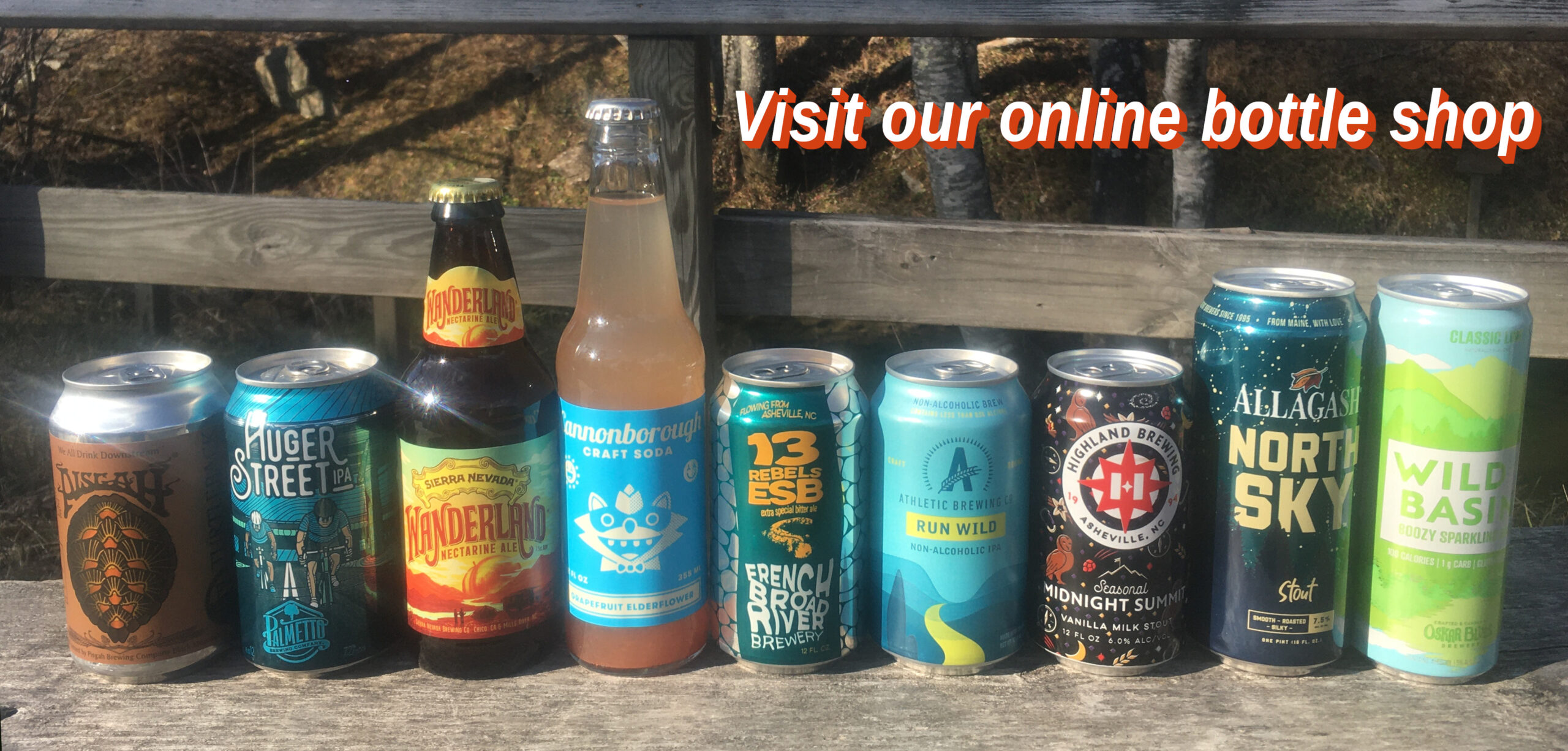 Visit our online bottle shop
