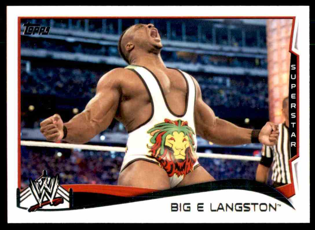 2014 WWE Trading Cards Big E Langston