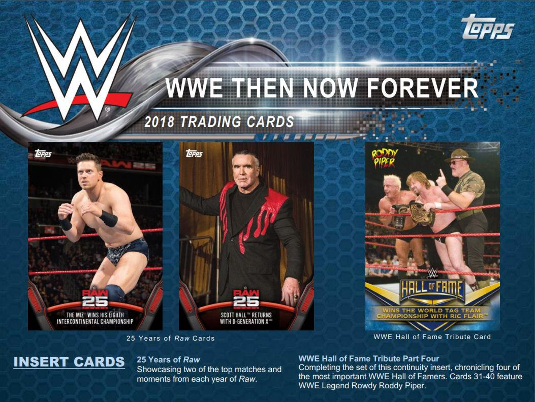 2018 Topps WWE Then Now Forever Sheet 1