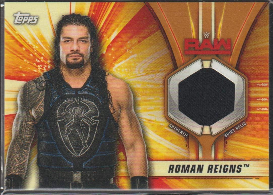 2019 WWE SummerSlam Roman Reigns Shirt Relic