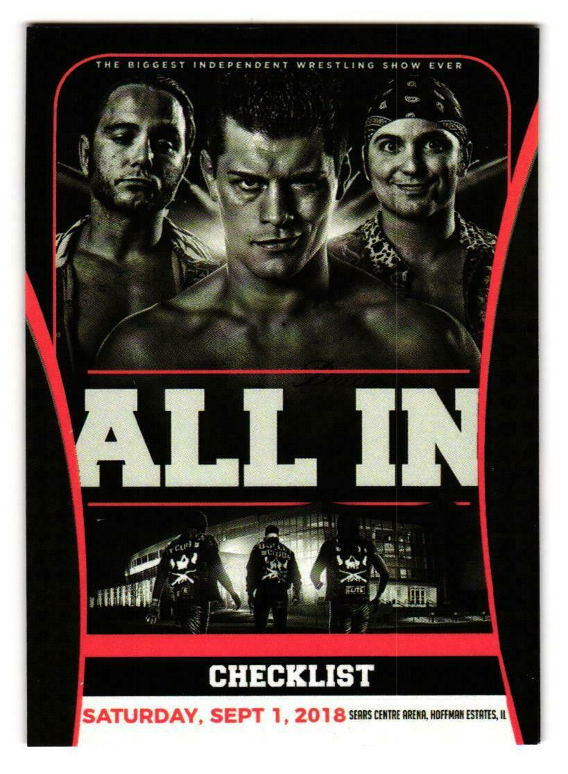 2018 AEW All In Trading Cards Checklist