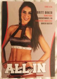 2018 All In Official Trading Cards Series 1 Britt Baker
