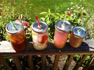 Juice Jars top view