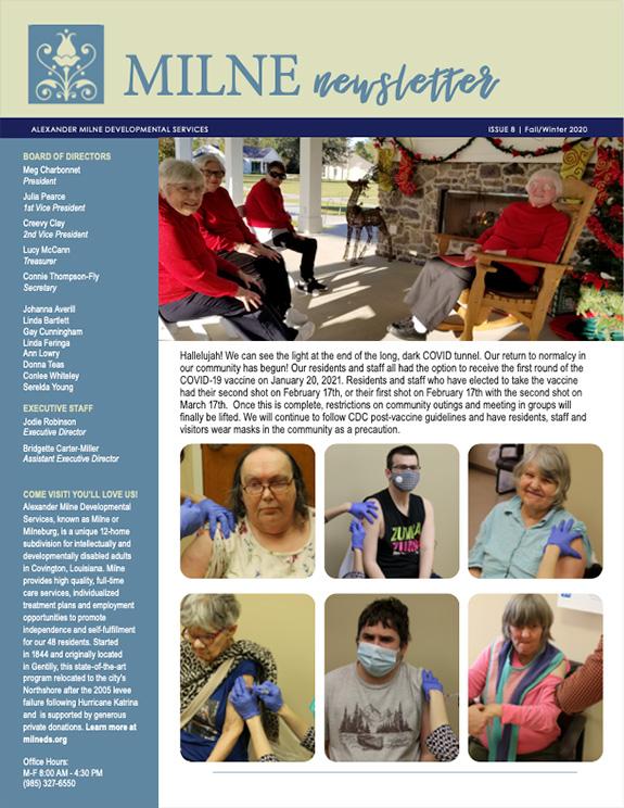 Milne Fall-Winter 2020 Newsletter