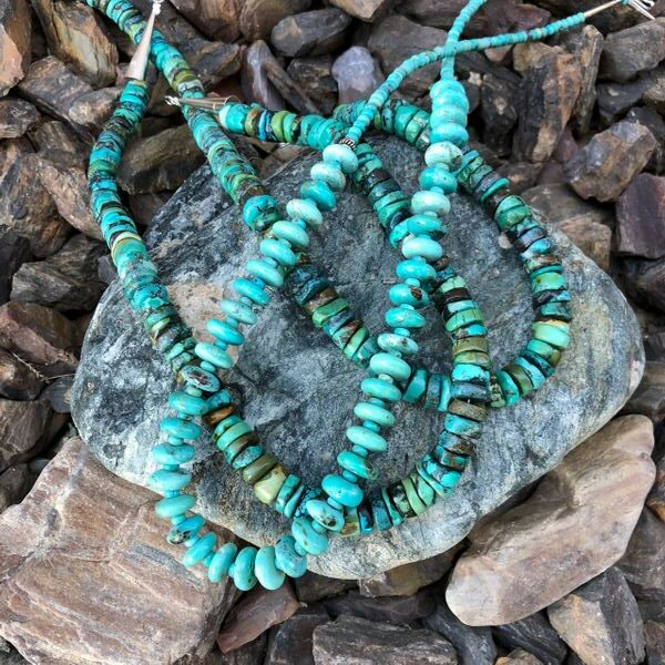 18 12 Long Multi-Colored Turquoise Chunky Beaded Necklace (5)