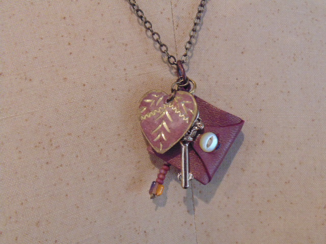 Pink Mini Book Pendant Necklace