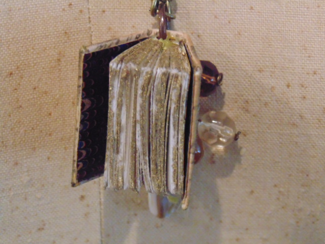 Script Miniature Book Pendant Necklace