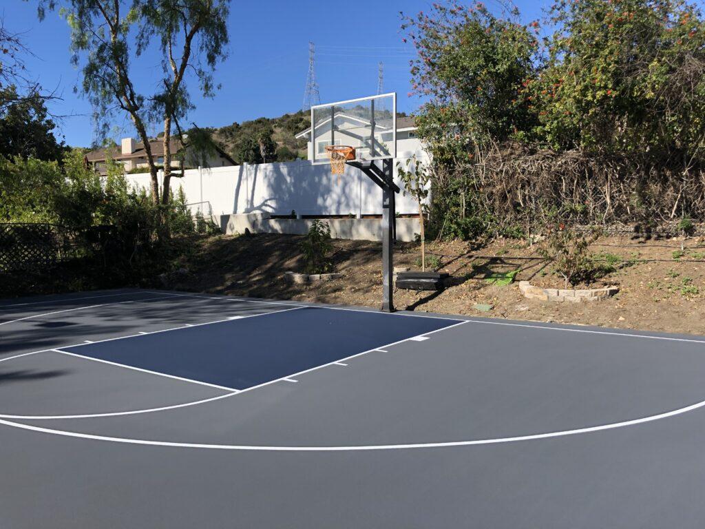 grey basketball court