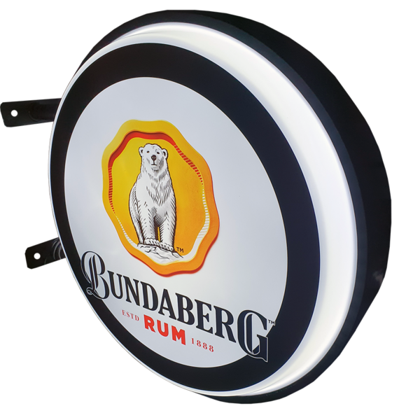 Bundy Rum 12v LED Retro Bar Mancave Light Sign