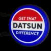 Datsun Embossed 12v LED Retro Bar Mancave Light Sign