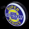 Chev Super Service 12v LED Retro Bar Mancave Light Sign