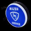 Mazda Service Solid 12v LED Retro Bar Mancave Light Sign