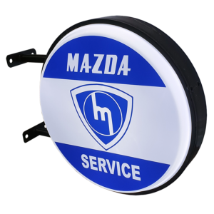 Mazda Service Striped LED Light