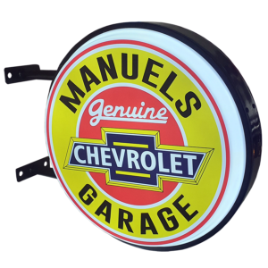 Your Name Chev Garage LED Retro Light