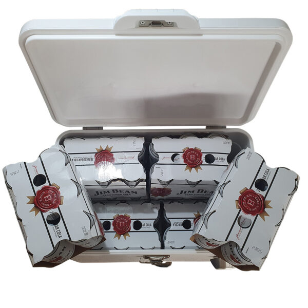 30lt Retro Esky Retro Coooler Chest showing 48 cans will fit inside