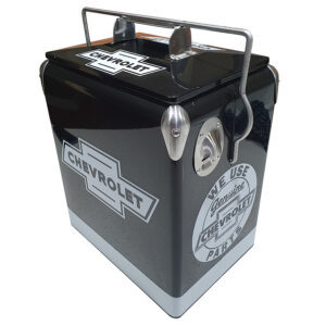 Chev Black Retro Esky - 17lt Retro Cooler - Corner 1