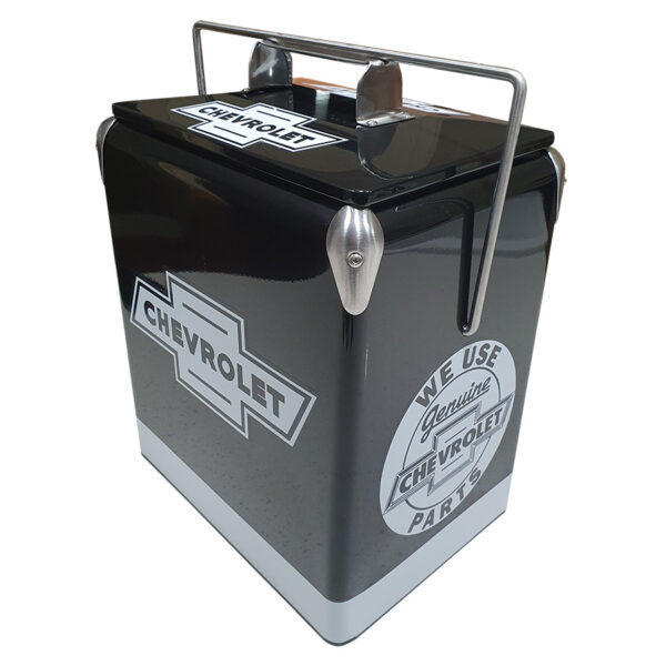 Chev Black Retro Esky - 17lt Retro Cooler - Corner 2