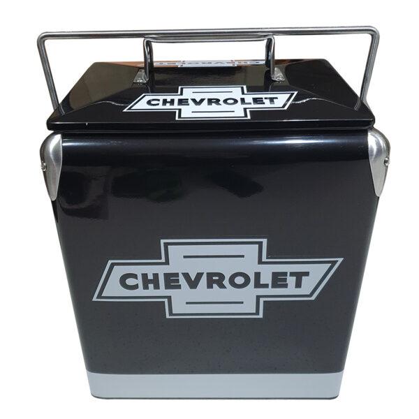 Chev Black Retro Esky - 17lt Retro Cooler - Front