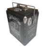 Jack Daniels Inspired Milestone 17lt Retro Esky Retro Cooler end panel 1