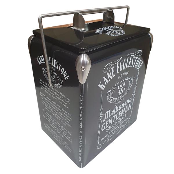 Jack Daniels Inspired Milestone 17lt Retro Esky Retro Cooler end panel 2