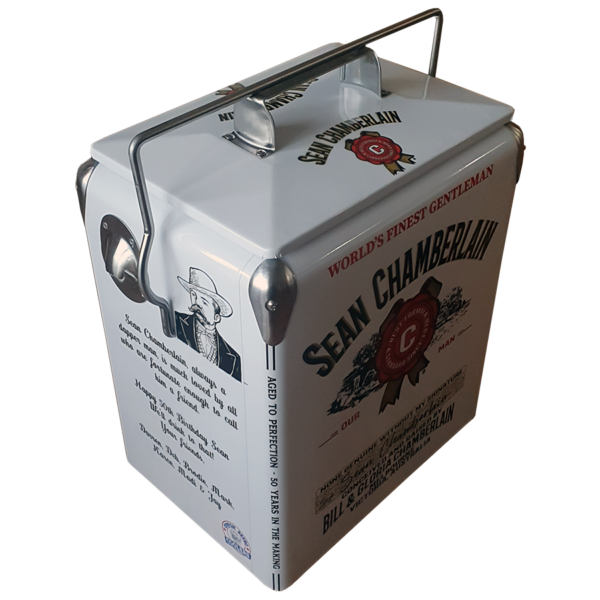Jim Beam inspired milestone celebration 17lt retro esky retro cooler angle 1