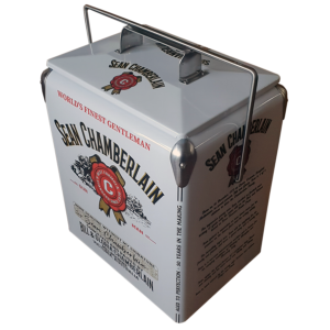 Jim Beam retro esky - 17lt Steel Retro Cooler