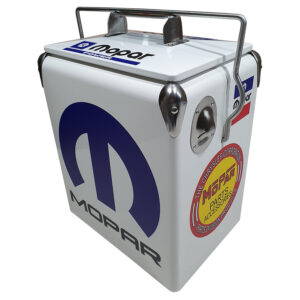 MoPar White Retro Esky - 17lt Retro Cooler - Corner 1