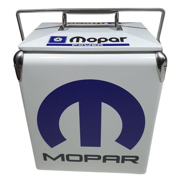 MoPar White Retro Esky - 17lt Retro Cooler - Front