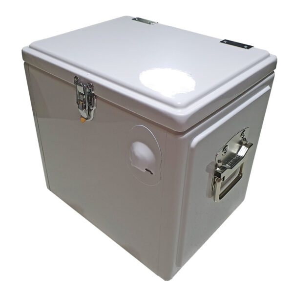 Retro Esky 15lt Chest Retro Cooler - White - Corner 1