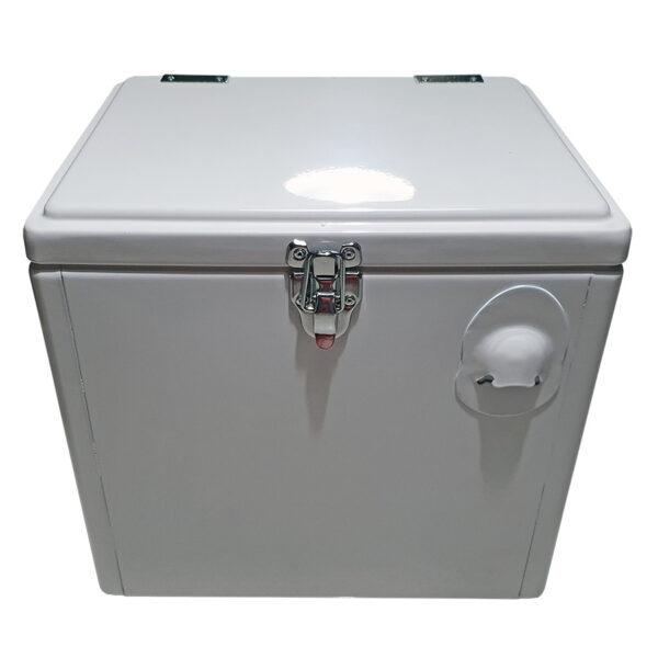 Retro Esky 15lt Chest Retro Cooler - White - Front