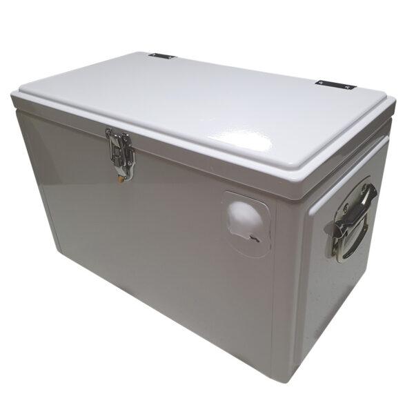 Retro Esky 20lt Chest Retro Cooler - White - Corner 1