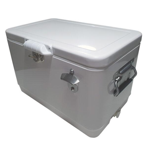 Retro Esky 30lt Chest Retro Cooler - White - Corner 1