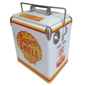 Shell Super Retro Esky - 17lt Retro Cooler - Corner 1