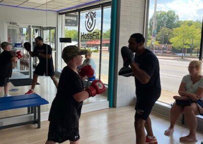 Zachary Thomas training Shock-A-Bully students