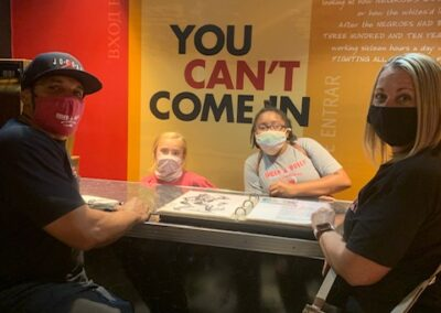 Photos of Shock A Bully students at the Muhammad Ali Museum