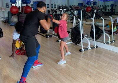 Students training with Zachary Thomas Boxing Coach