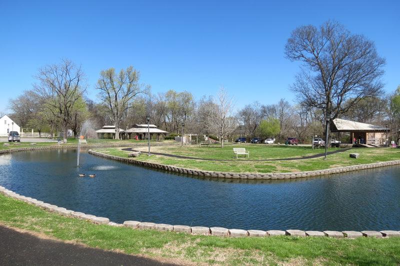 Looking northeast across the park