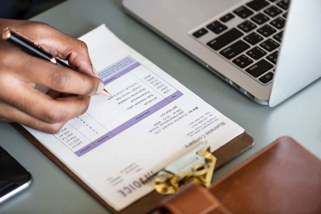 Accountant Filling Tax Form Online
