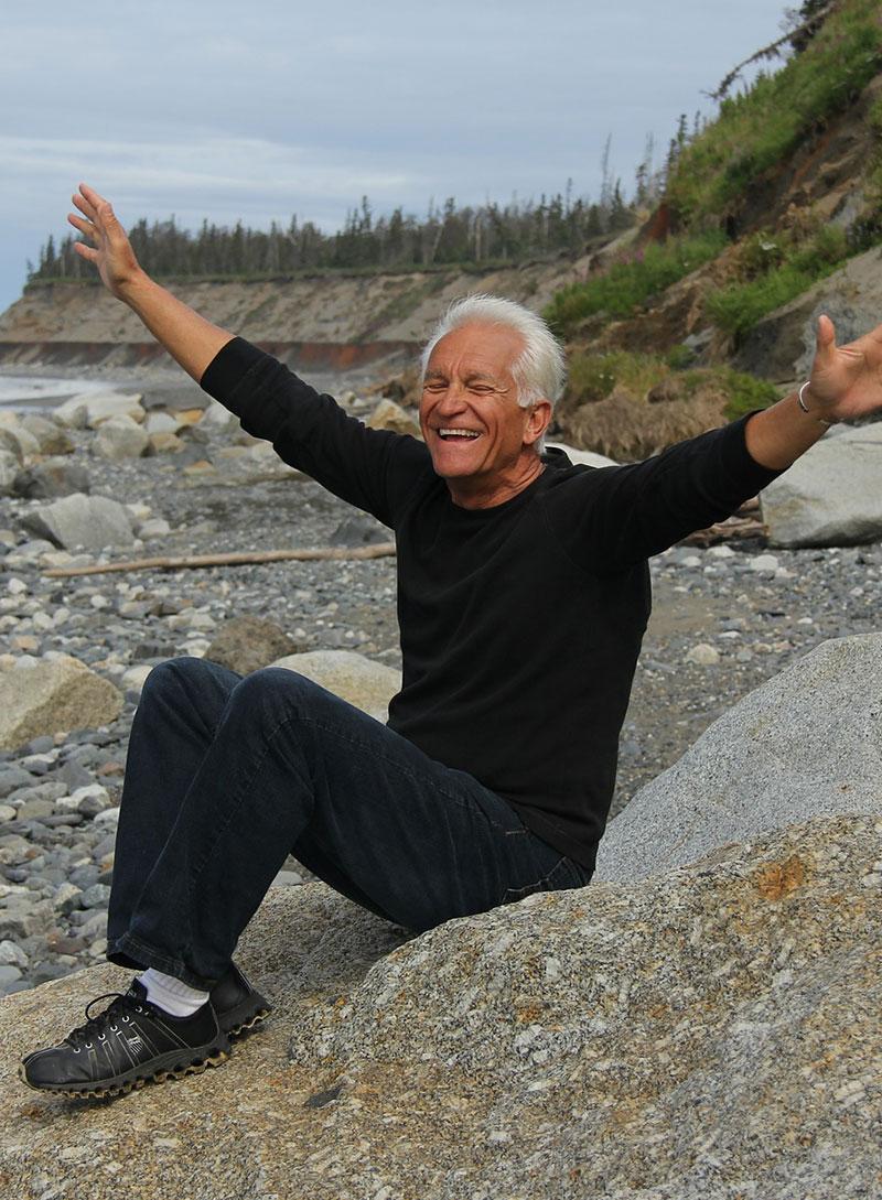 older man happy