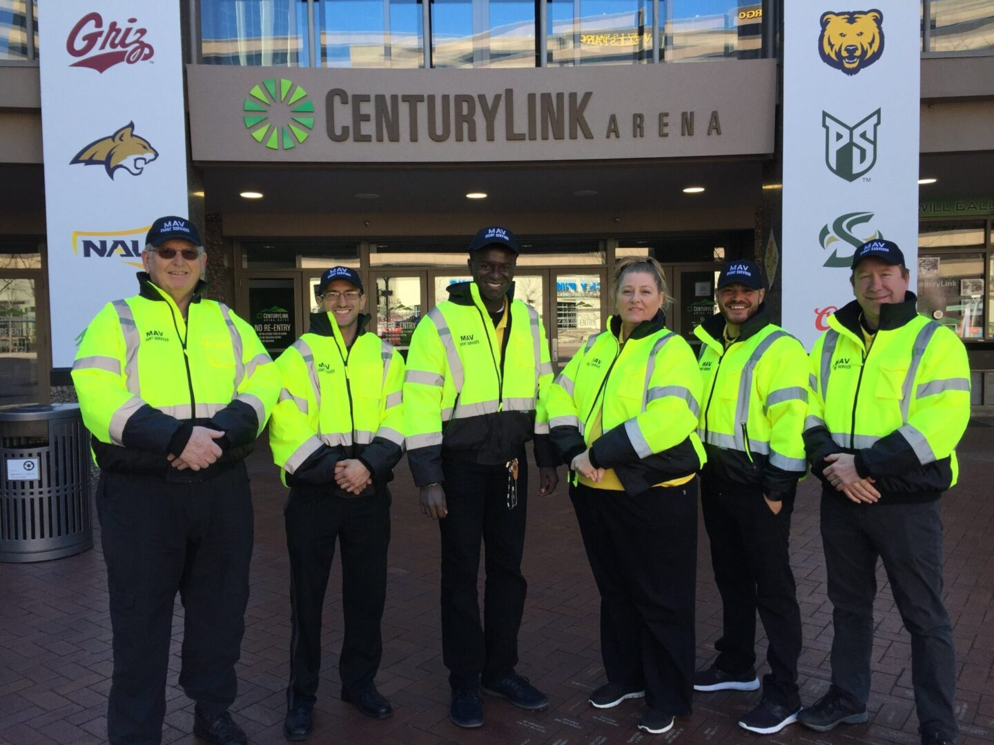Security team guarding the Century Link Arena