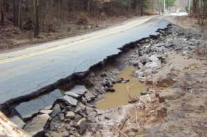 Severe road defect