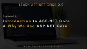 ASP NET Core tutorial