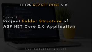 asp net core Project folder structure