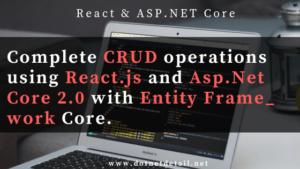 Crud operations using reactjs and asp net core
