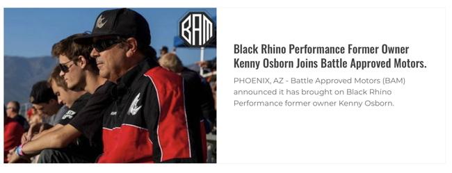 Black Rhino Performance Former Owner Kenny Osborn Joins Battle Approved Motors.