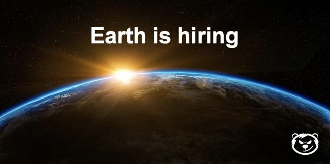 Earth is hiring