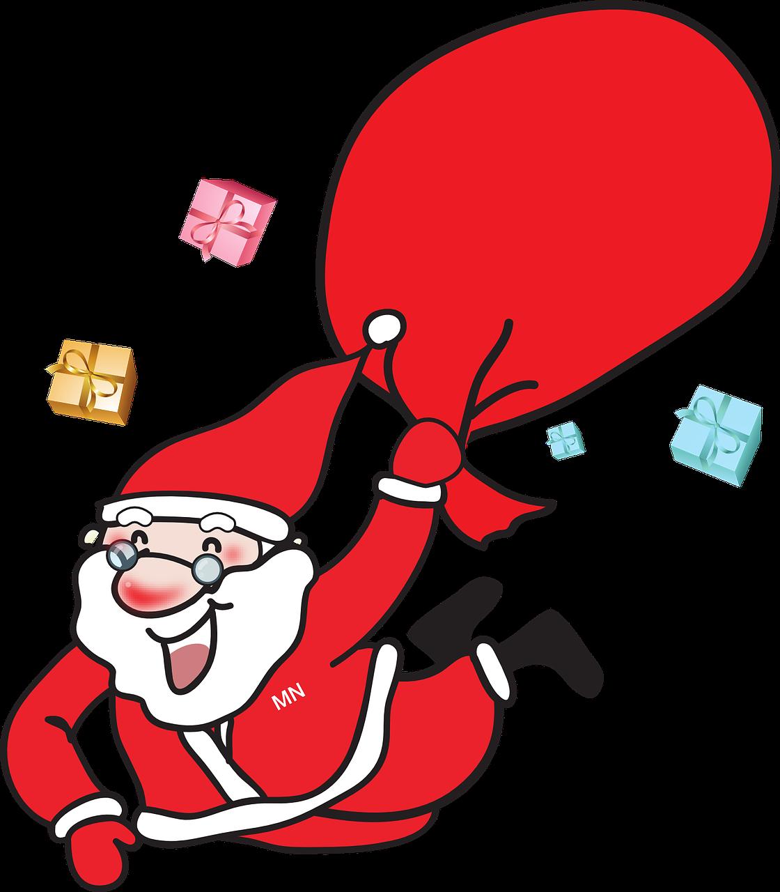santa claus, christmas, gift