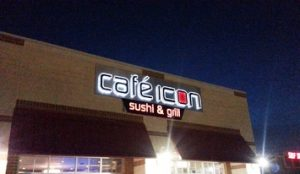 Cafe Icon Lighted Storefront Sign Channel Letters